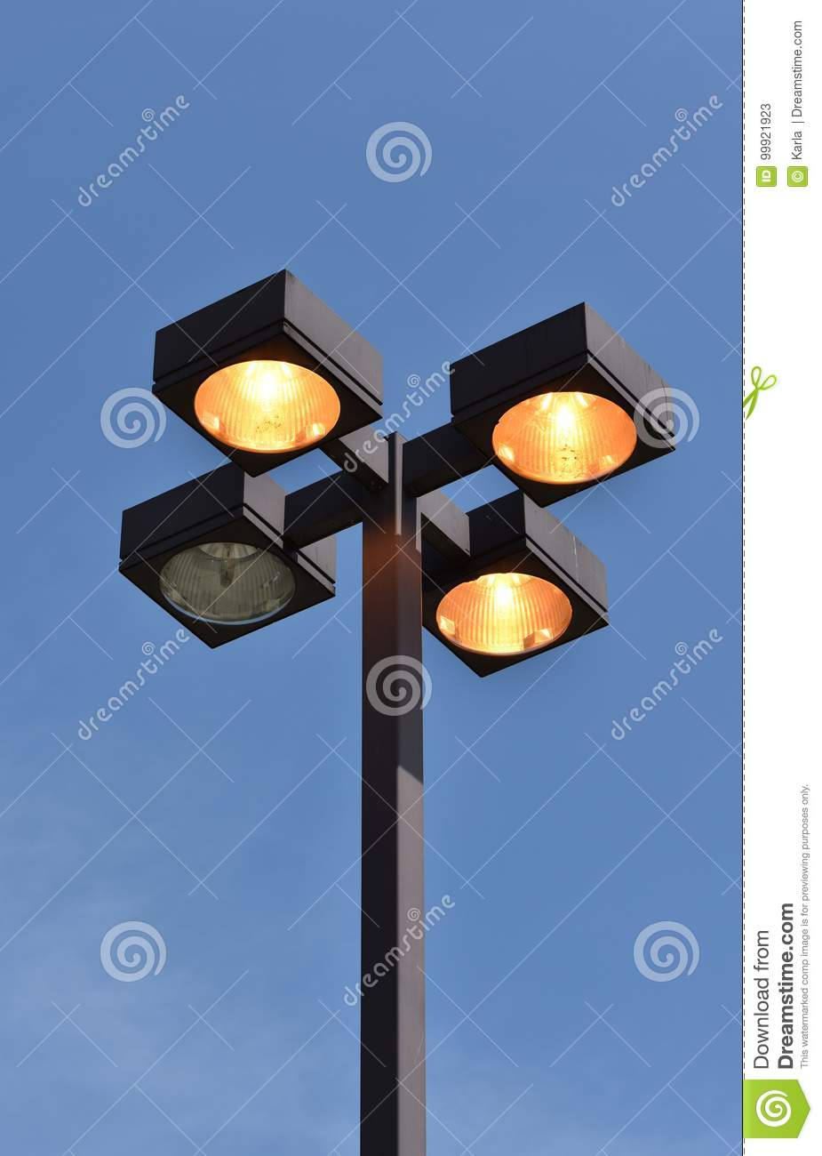 Outdoor light pole with four fixtures stock image image of light download outdoor light pole with four fixtures stock image image of light security aloadofball Image collections