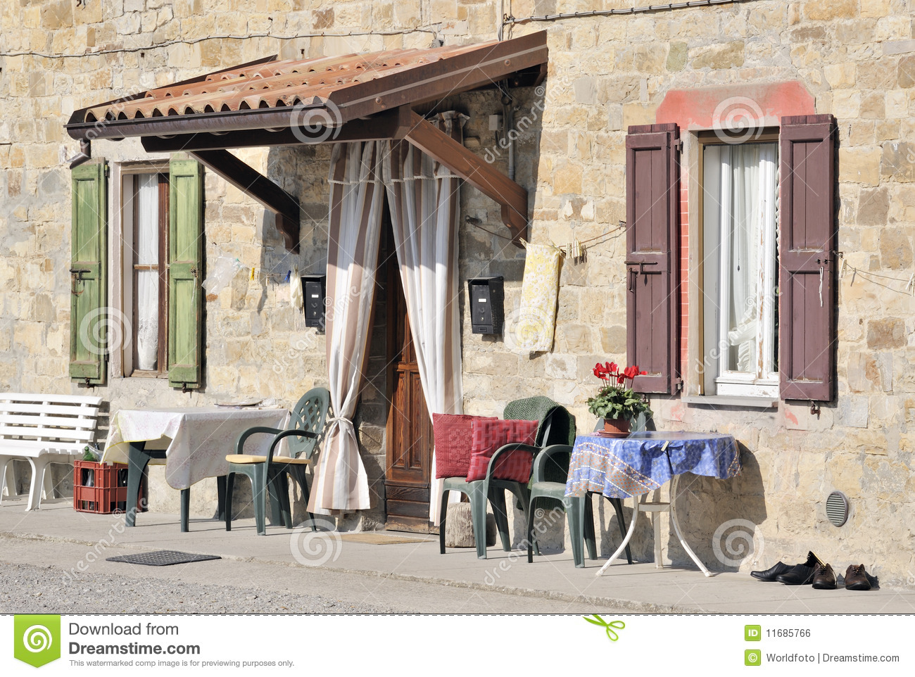 Outdoor Living Italian Style Royalty Free Stock Image ...