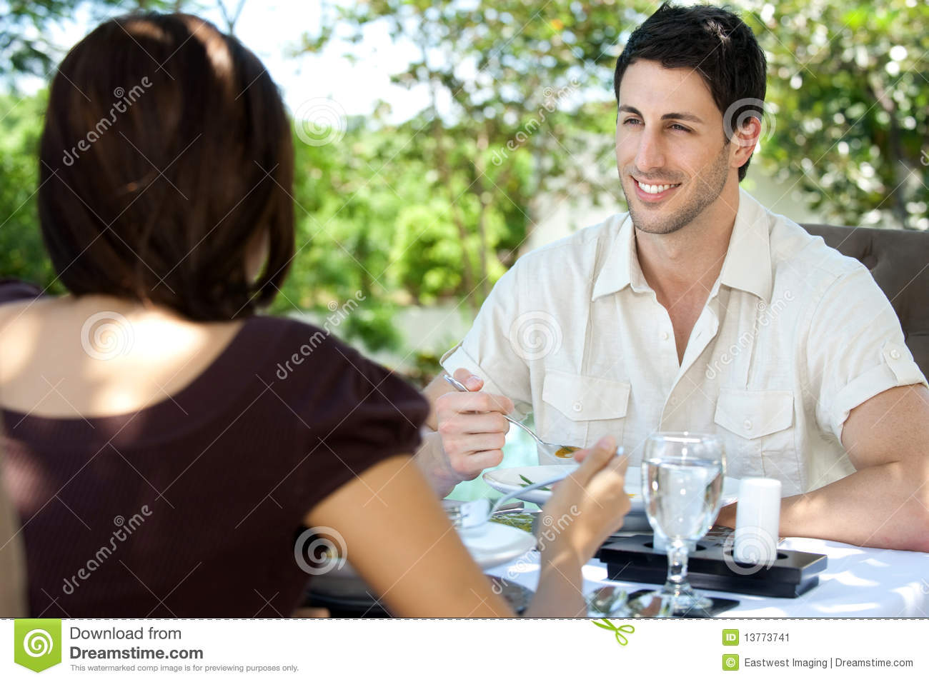 Outdoor meal stock image image 13773741 for Meal outdoors