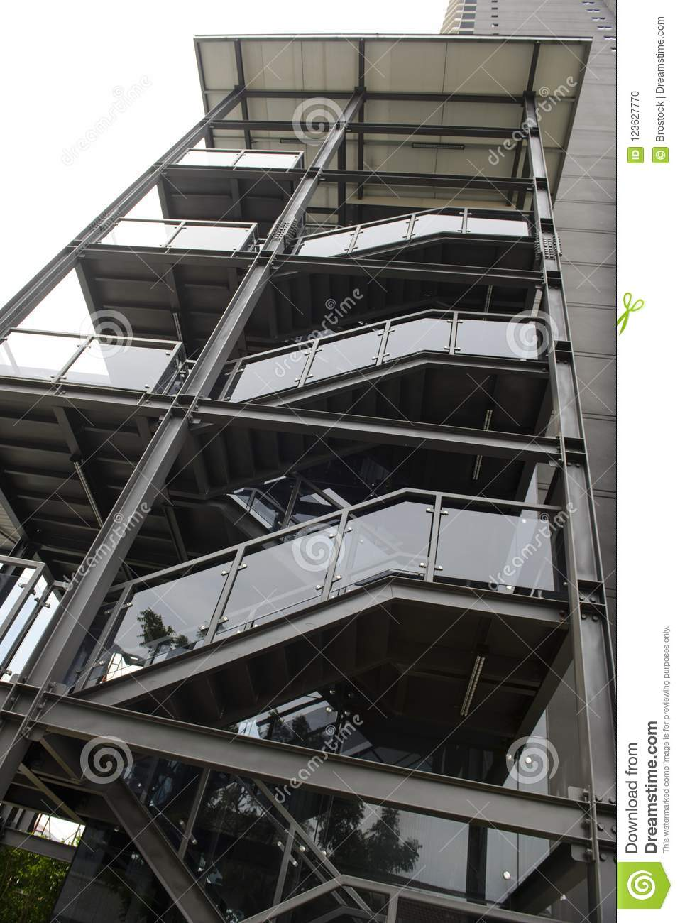 Download Outdoor Metal Black Emergency Staircase Outside A Building Stock  Photo   Image Of Exit,