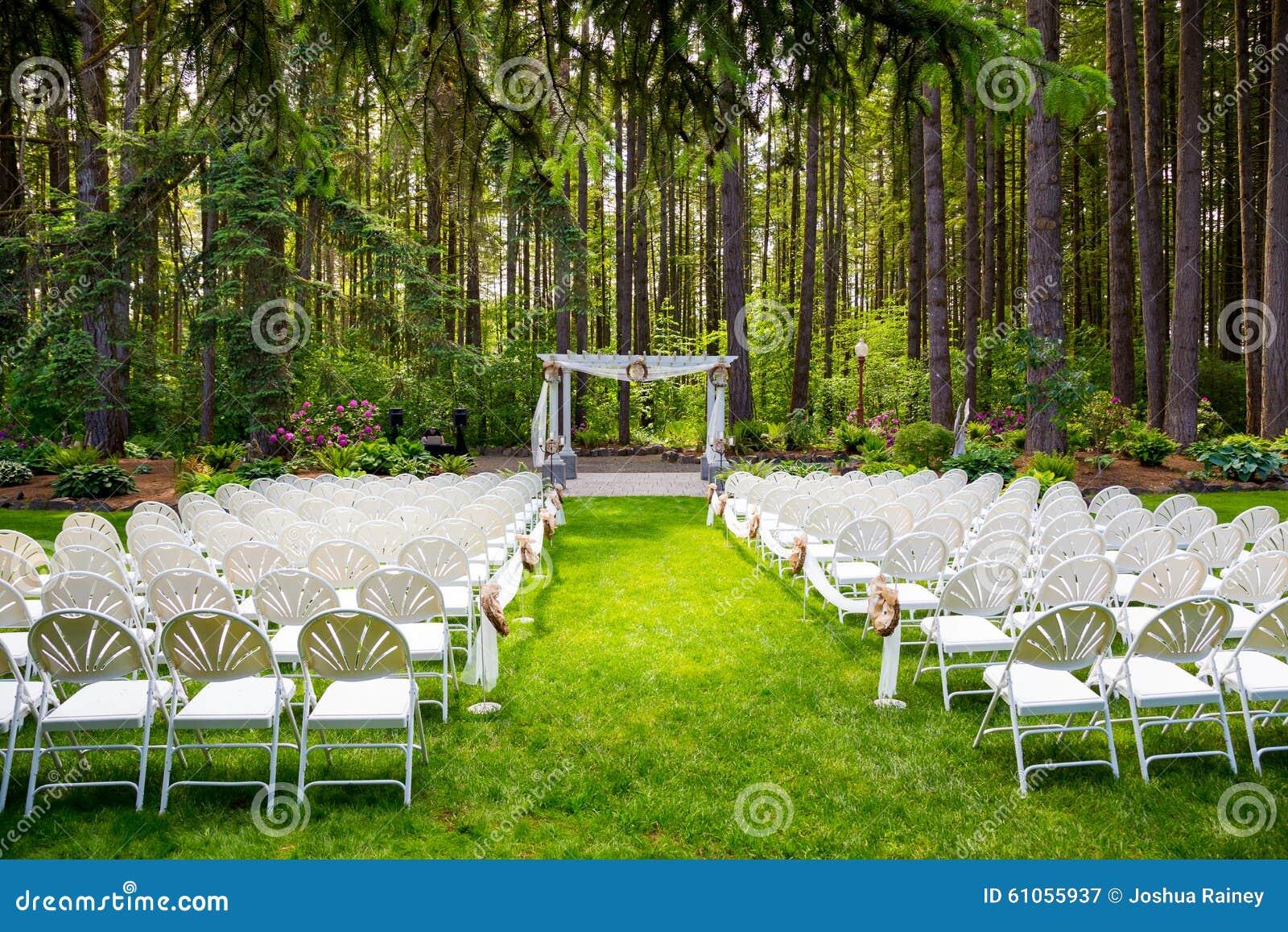 Outdoor Natural Wedding Venue In Oregon Stock Image