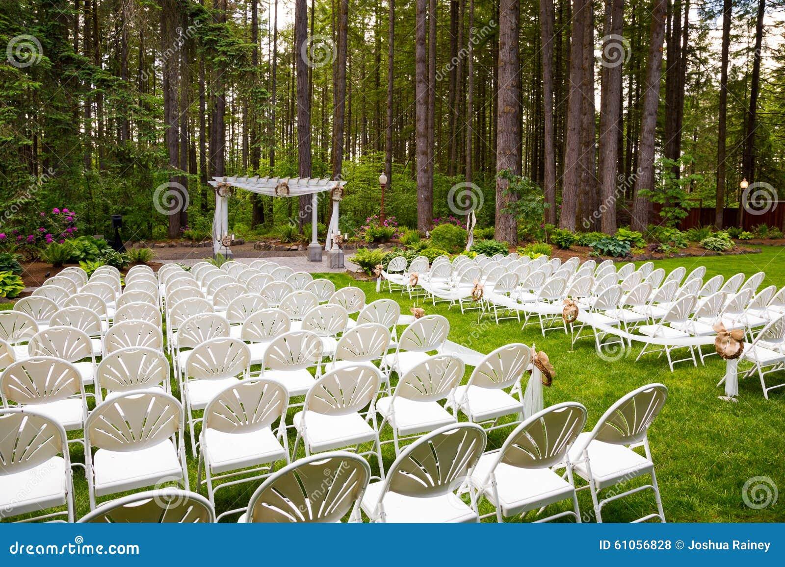 Outdoor Natural Wedding Venue In Oregon Stock Photo ...
