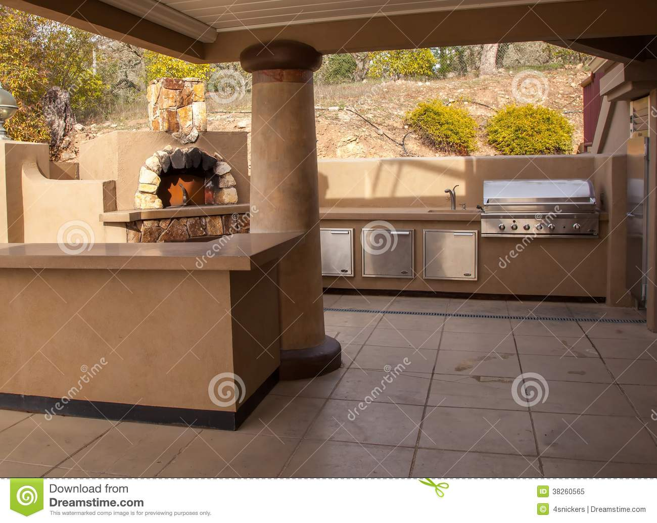 Outdoor Party Kitchen Stock Image Image Of Luxury