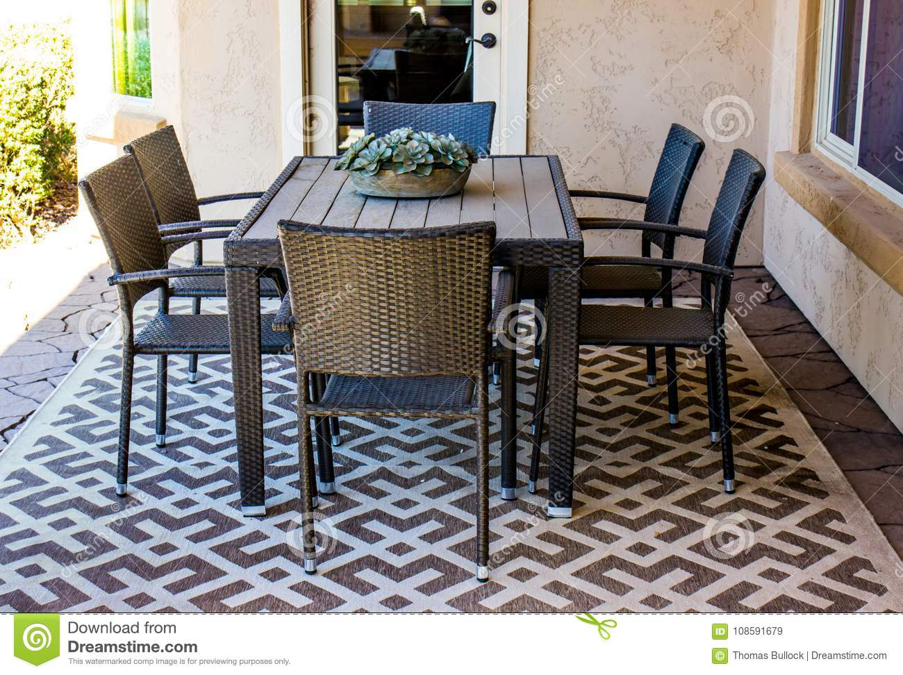 Outdoor Patio Furniture Set Stock Image Image Of Grouping
