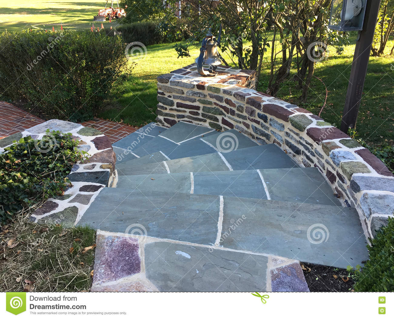 Outdoor Patio Steps Stock Photo Image Of Wall Pathway 79121210