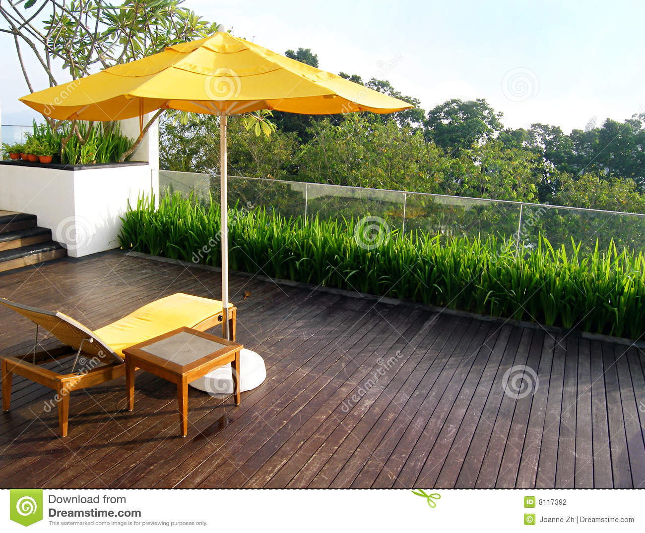 Outdoor Patio In Wood Deck Stock Photography - Image: 8117392