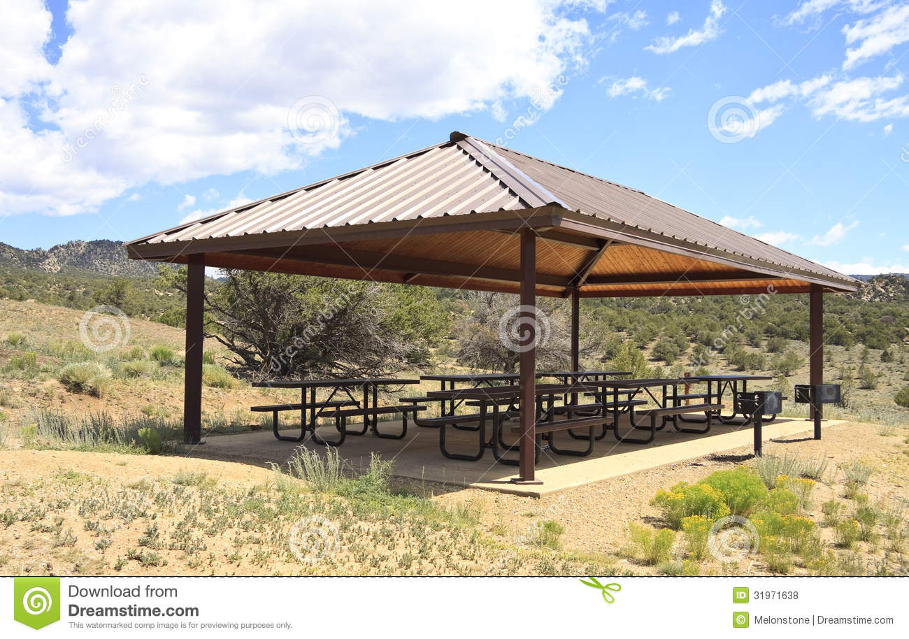 Outdoor Picnic Area Royalty Free Stock s Image