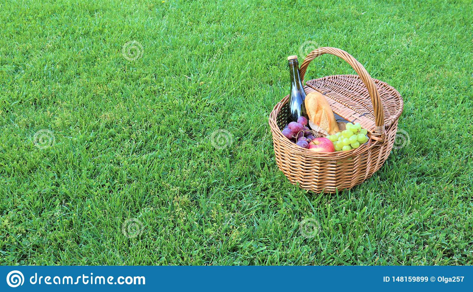 Outdoor Picnic At Sunny Day Stock Image - Image of green ...