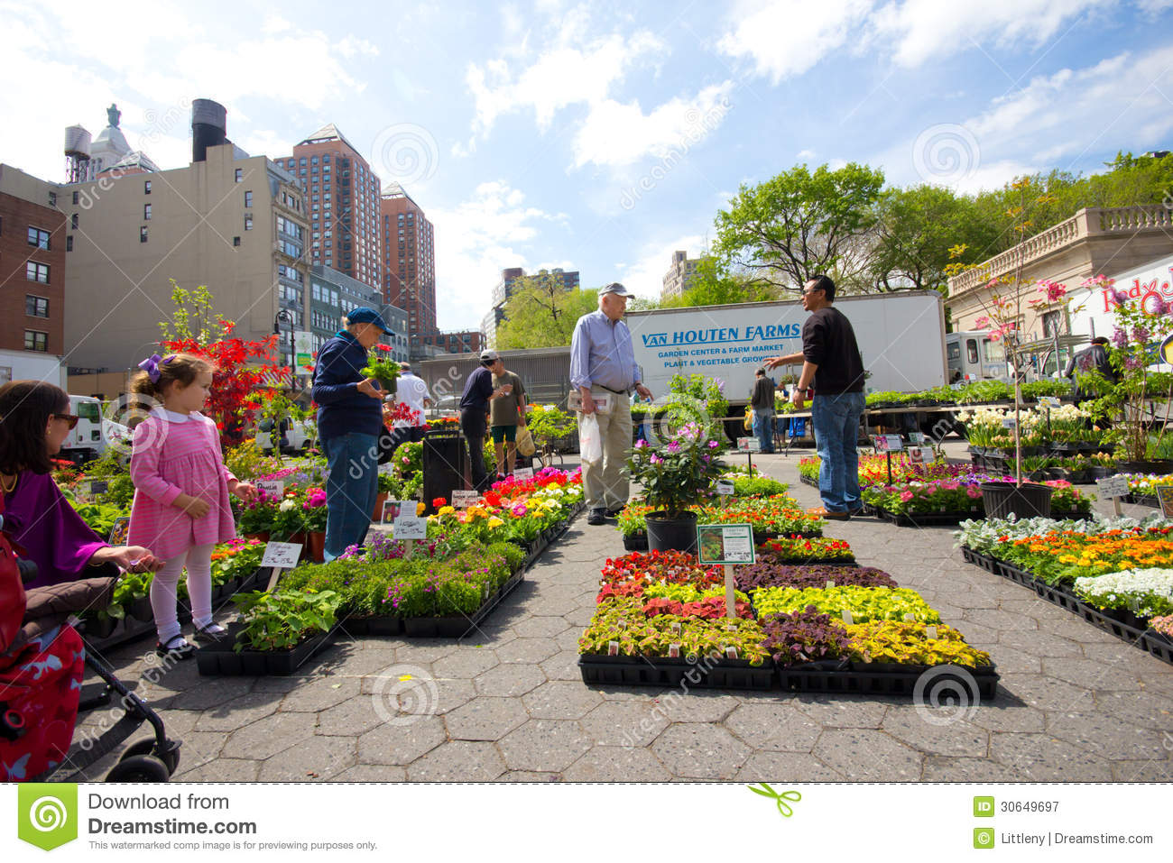 Outdoor plant sale editorial photography image 30649697 for Flowers union square nyc