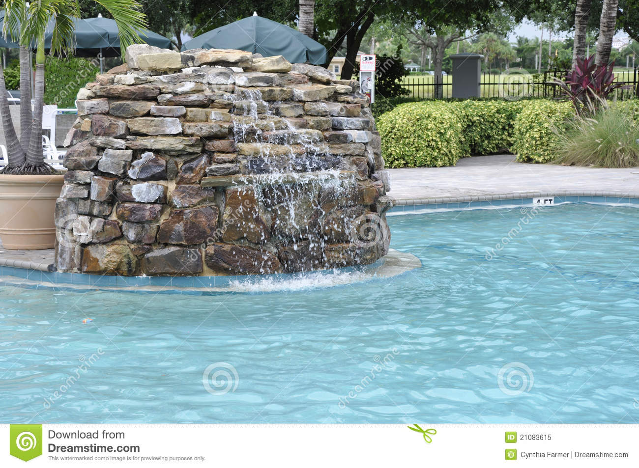 Outdoor pool fountain royalty free stock photo image for Garden treasures pool clock