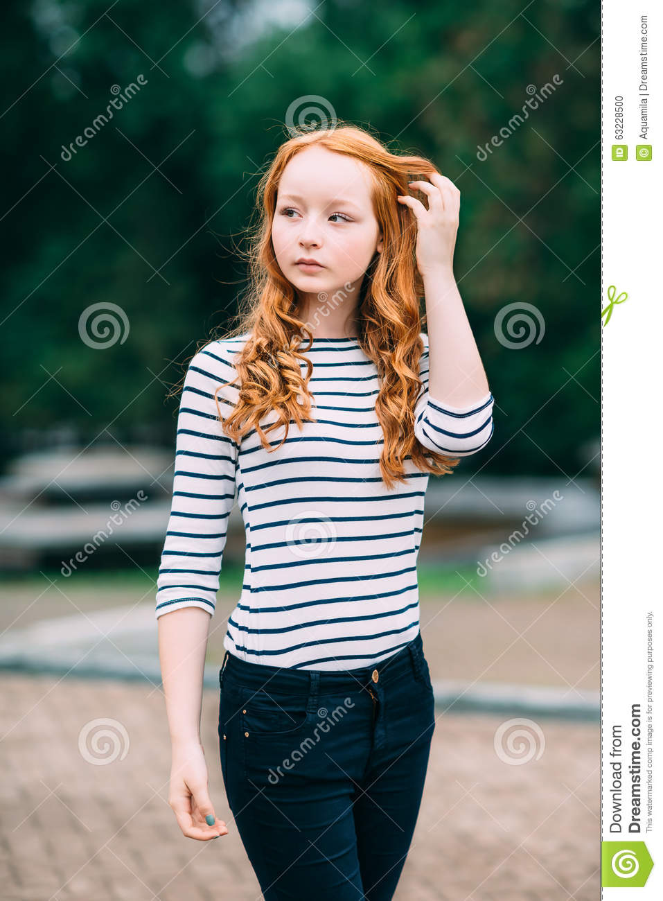 Consider, Young girl with red hair can
