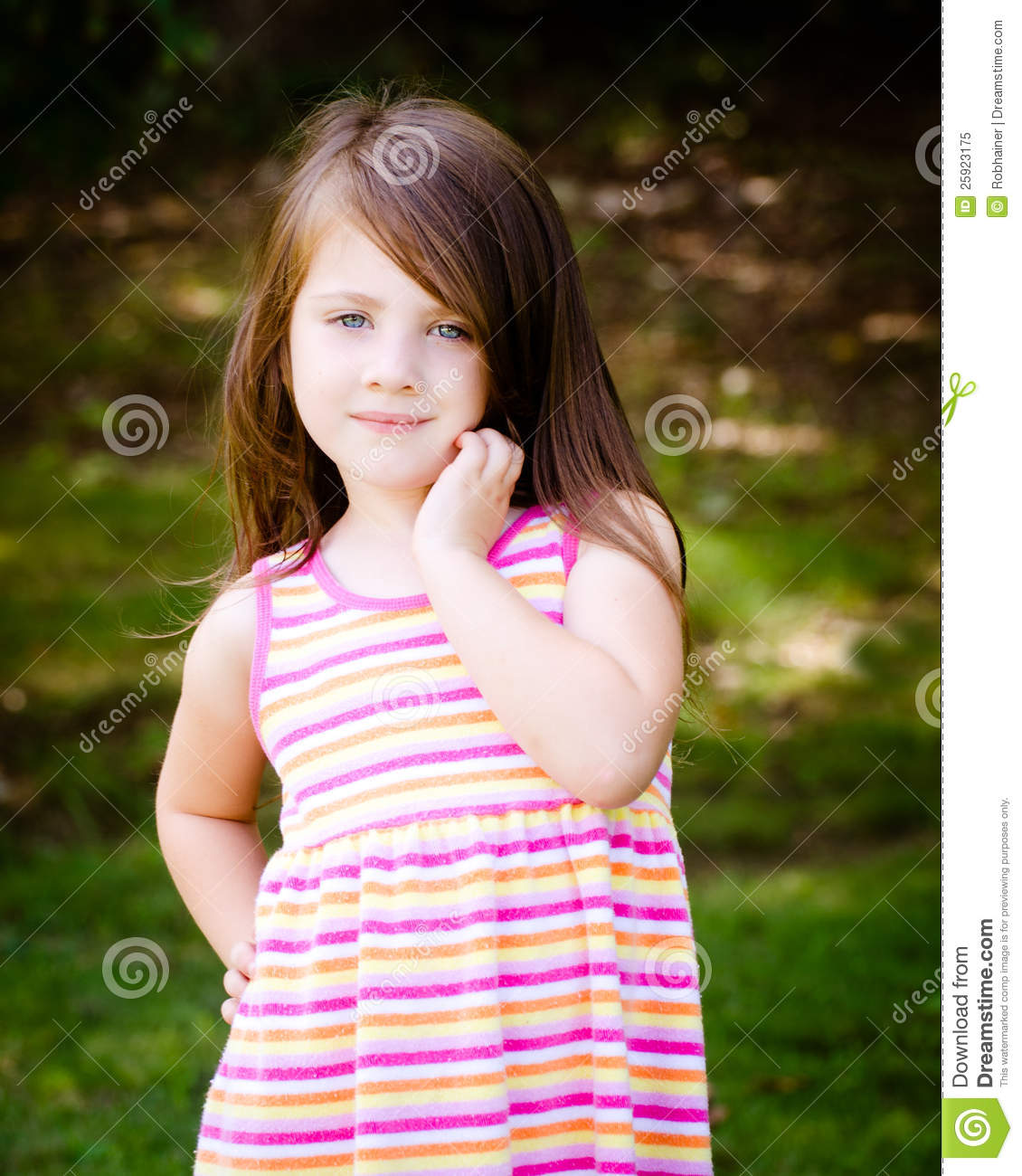 Outdoor Portrait Of Cute Young Girl Royalty Free Stock