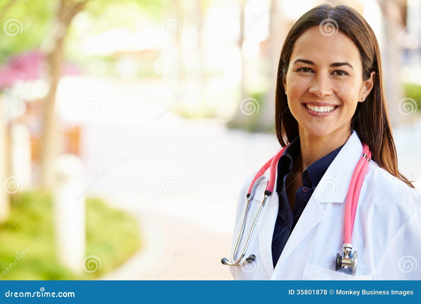 Outdoor Portrait Of Female Doctor