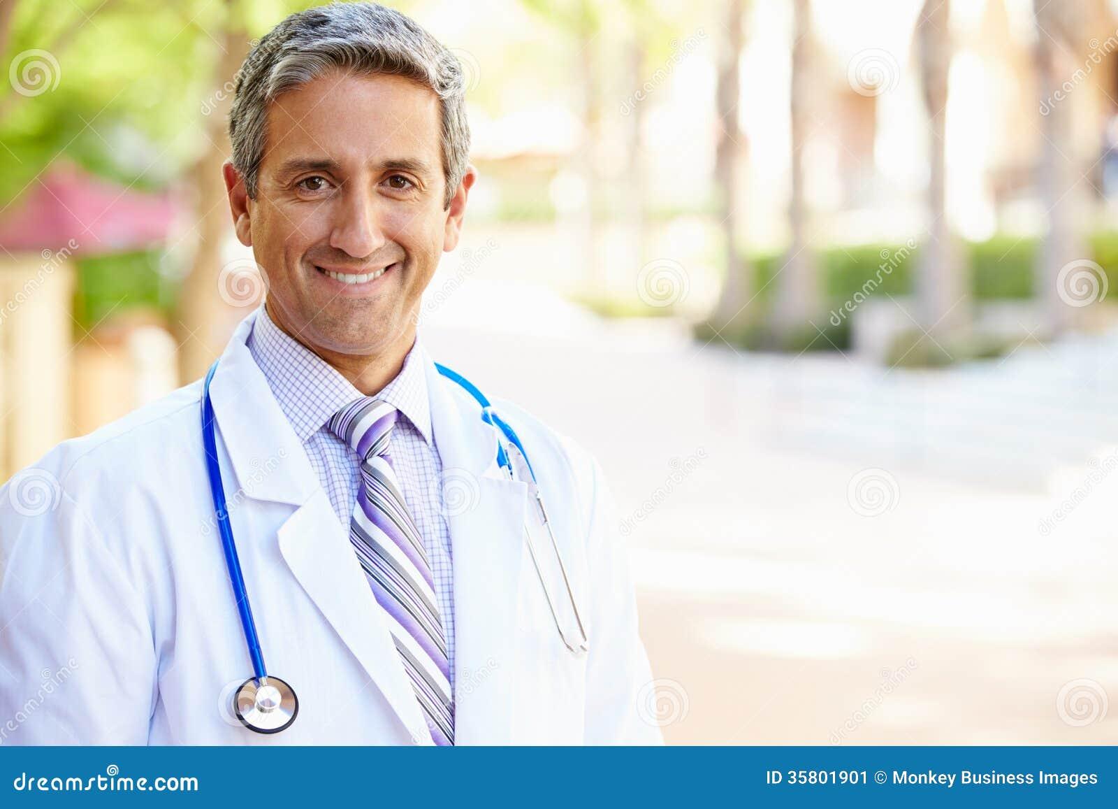 Outdoor Portrait Of Male Doctor