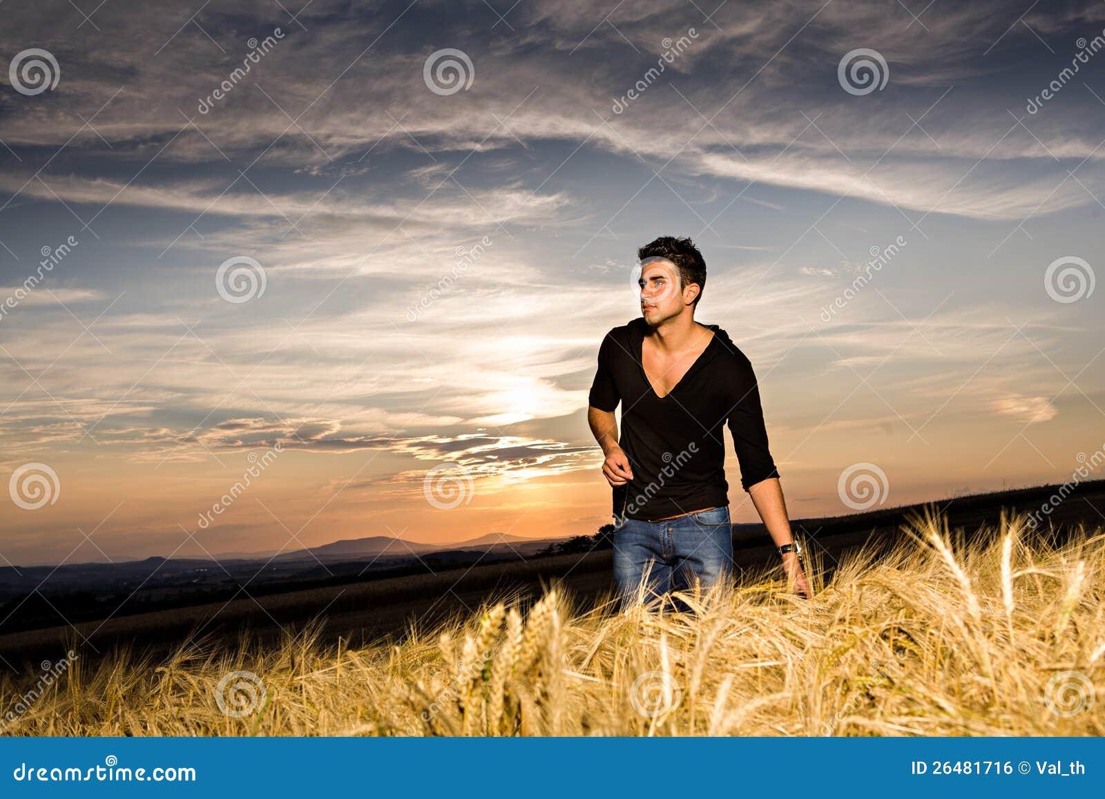 Outdoor portrait of man