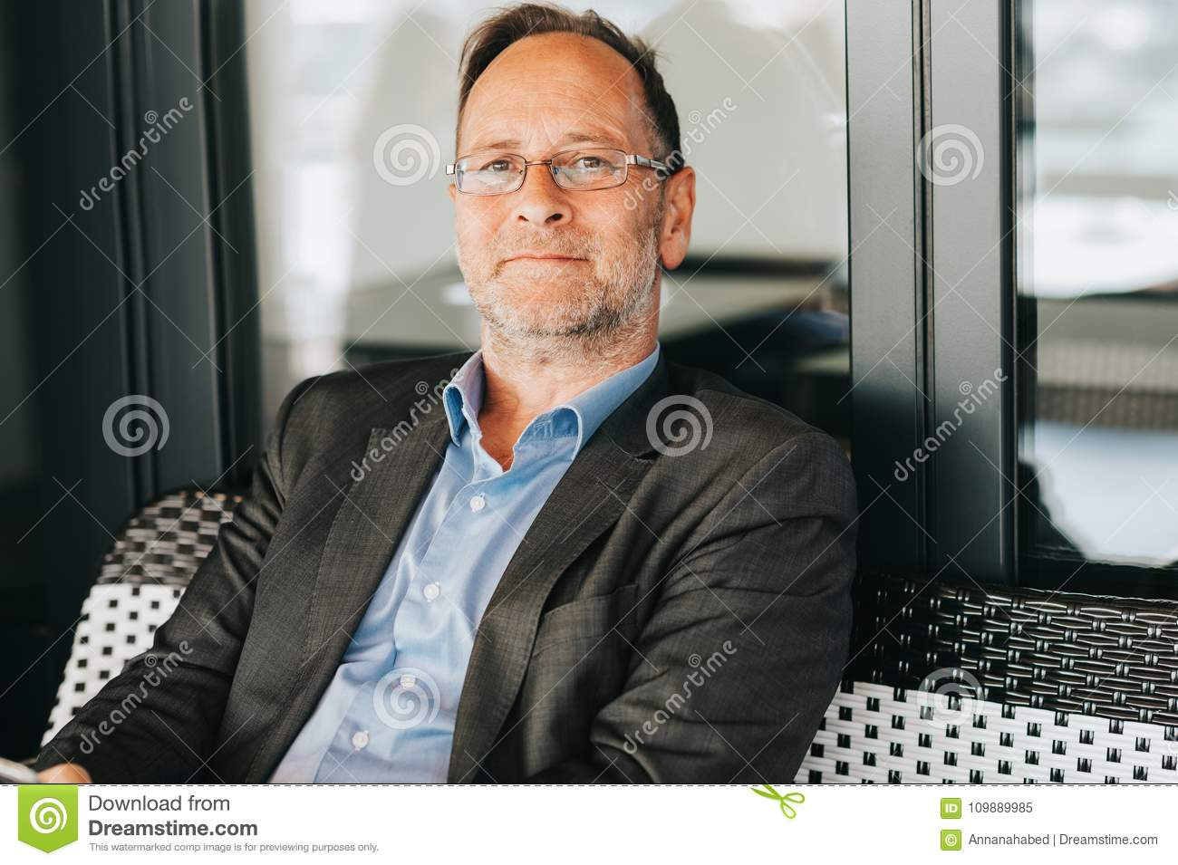 Outdoor Portrait Of 50 Year Old Man Stock Image Image Of Fashion