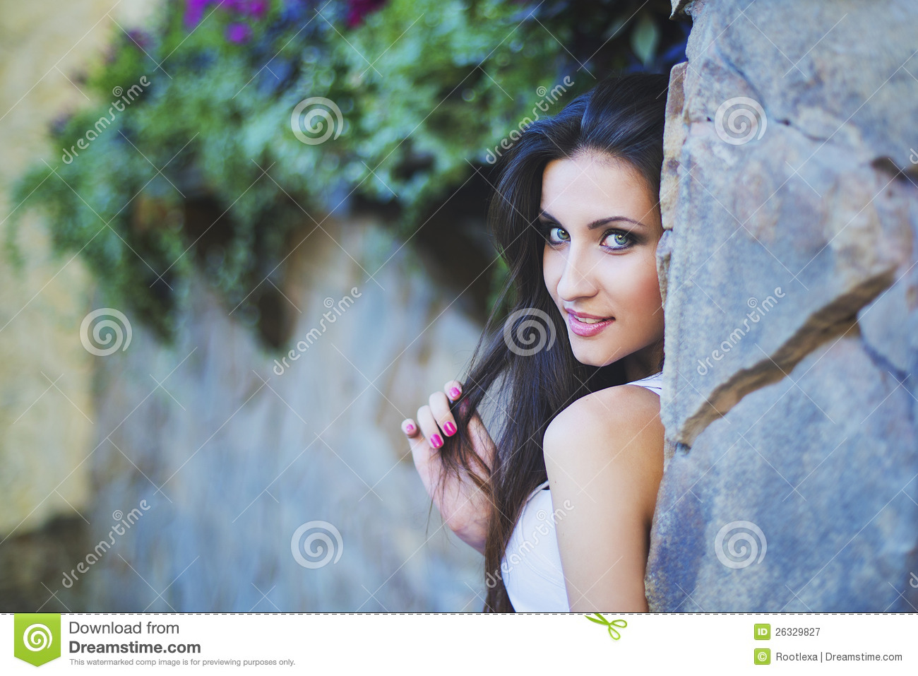 Outdoor Portrait Of Young Woman