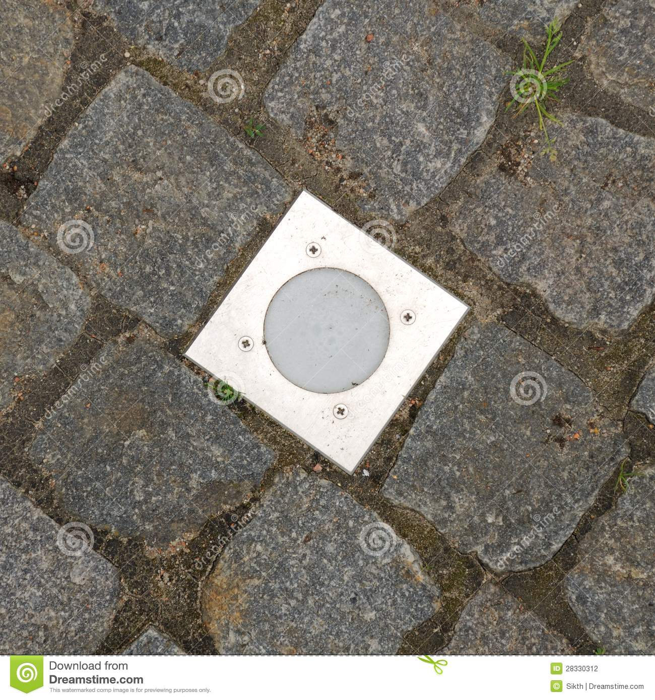 Royalty Free Stock Photo. Download Outdoor Recessed Ground Lighting ...