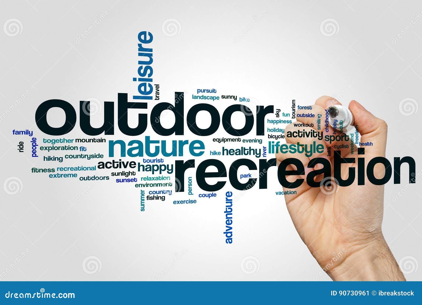 Outdoor recreation word cloud