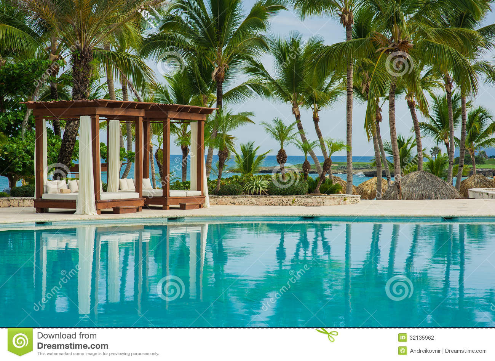 Outdoor Resort Pool Swimming Pool Of Luxury Hotel Swimming Pool In Luxury Resort Near The Sea