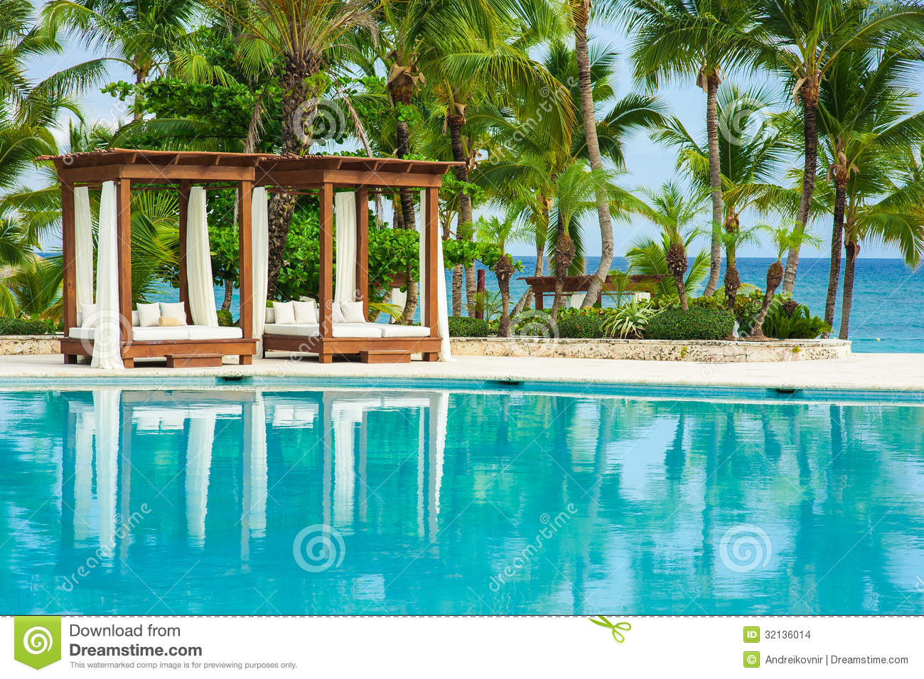Outdoor Resort Pool Swimming Pool Of Luxury Hotel Swimming Pool In Luxury Resort Near The Sea