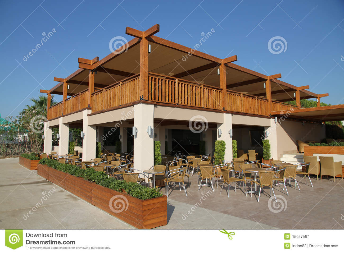 Furniture Design App Outdoor Restaurant Royalty Free Stock Photography Image