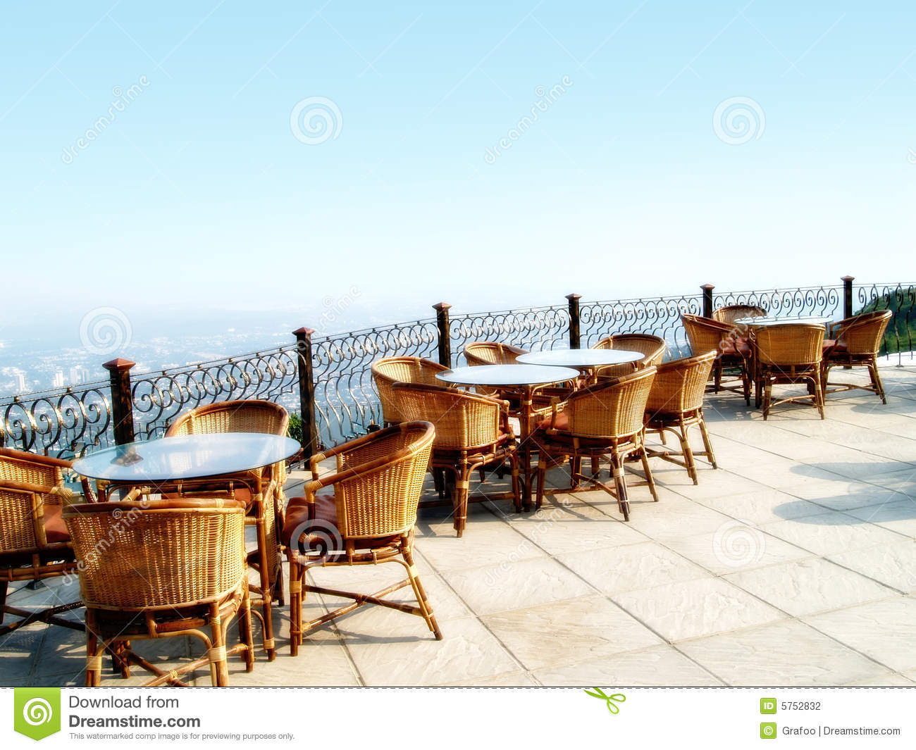 Outdoor restaurant seating stock photo. Image of open - 5752832