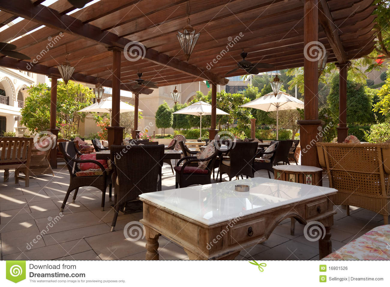Outdoor Restaurant Tables Royalty Free Stock Image Image