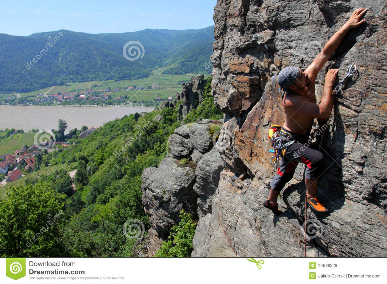 Outdoor Rock Climbing Royalty Free Stock s Image