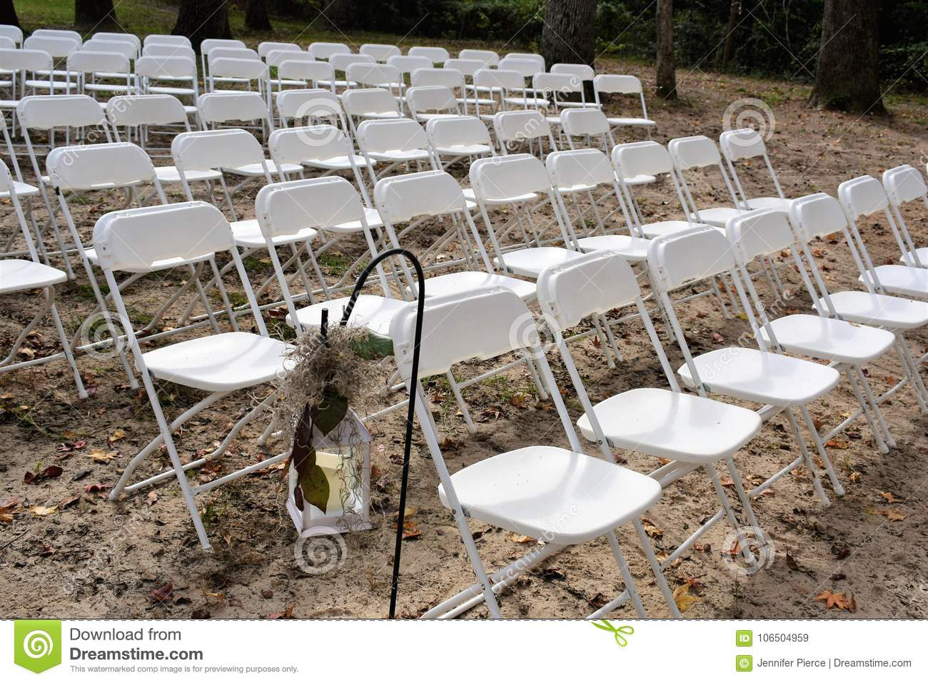 Outdoor Rustic Wedding Decorations Stock Image Image Of