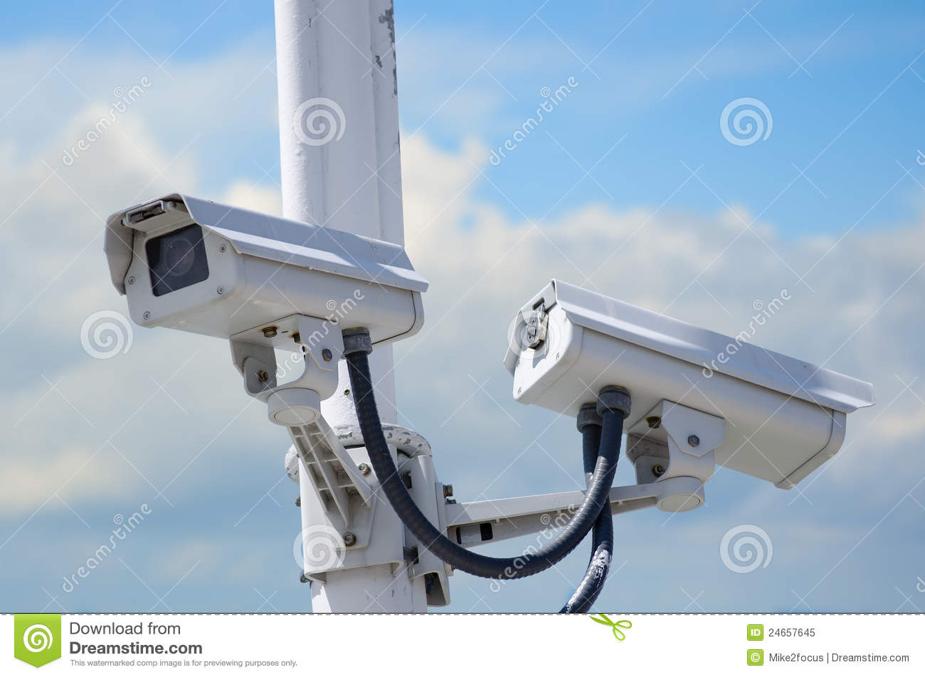 Outdoor security cameras royalty free stock photo image 24657645 - Exterior surveillance cameras for home ...