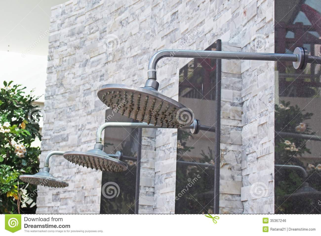 Outdoor shower stock photo. Image of wall, close, valve - 35367246