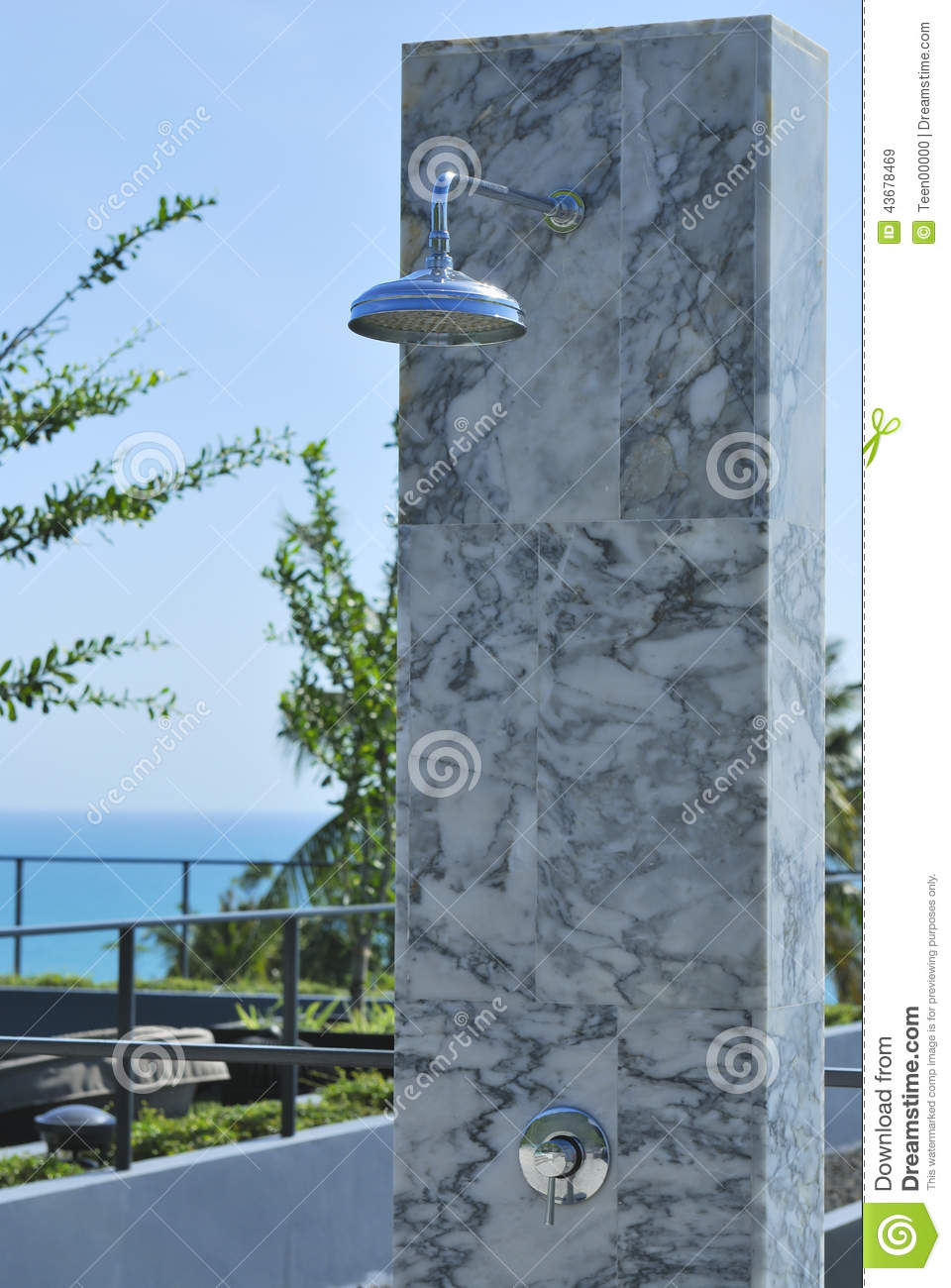 Outdoor Shower At Swimming Pool And Beach Stock Image - Image of ...