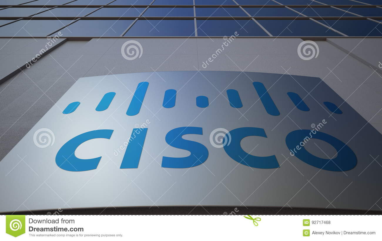 Outdoor Signage Board With Cisco Systems Logo Modern Office