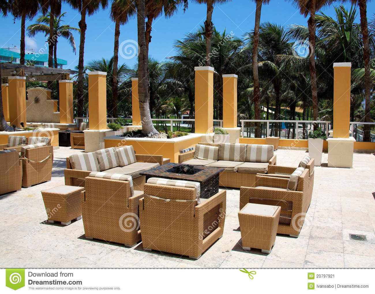 Outdoor Sitting Area Stock Image
