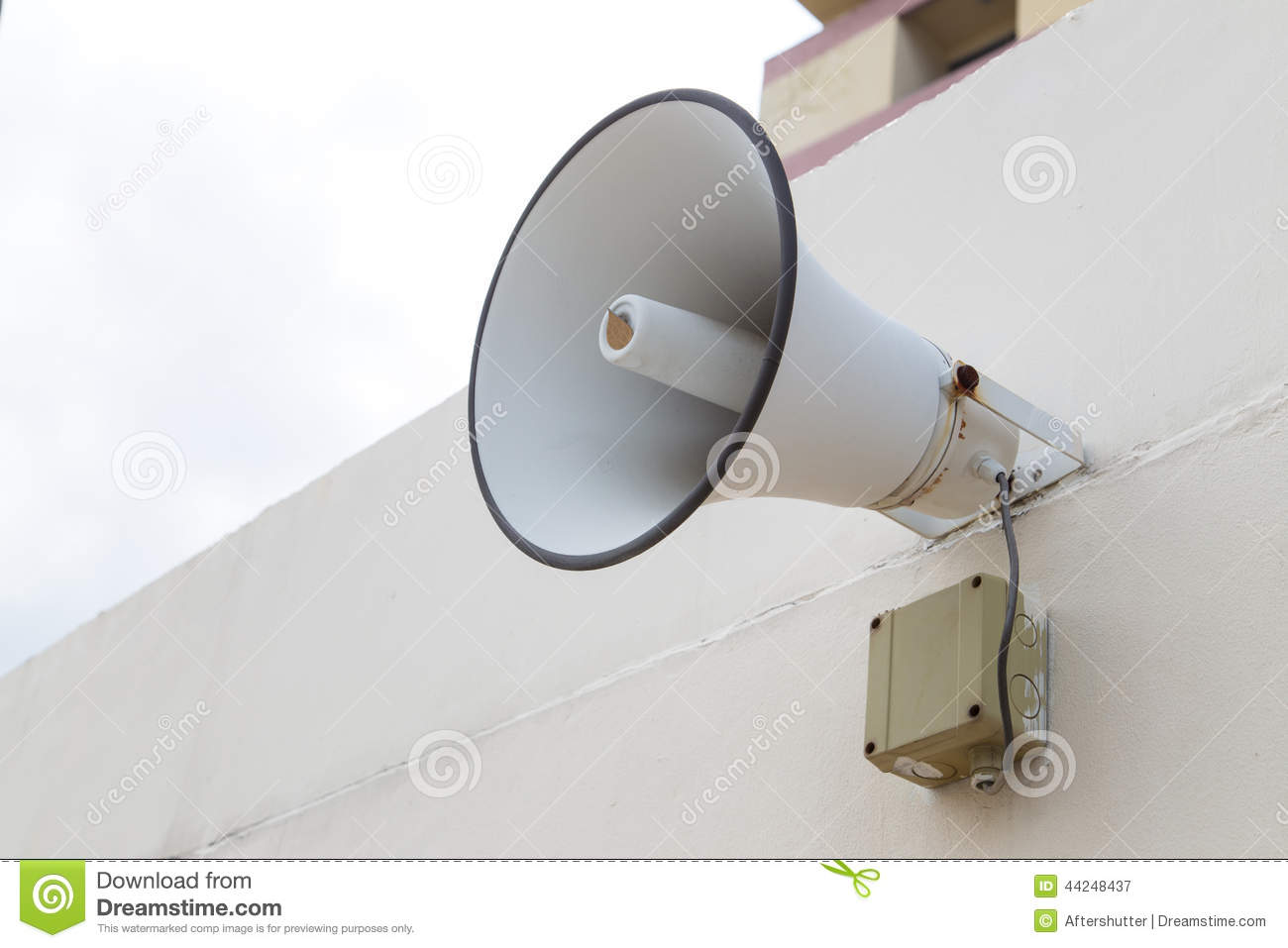 Outdoor Speaker For Announce Message To Public Stock Image
