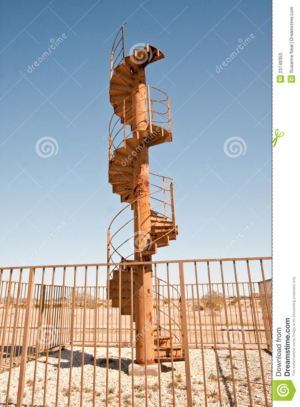 Outdoor Spiral Staircase Leading To The Sky