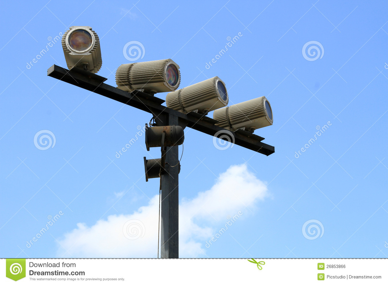 Outdoor Spot Lights Royalty Free Stock Image Image