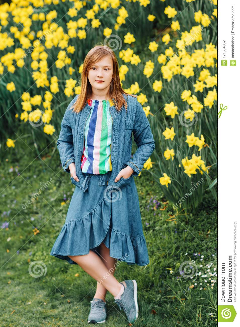 Portrait Of Young Girl Stock Photo Image Of Environment 121654852