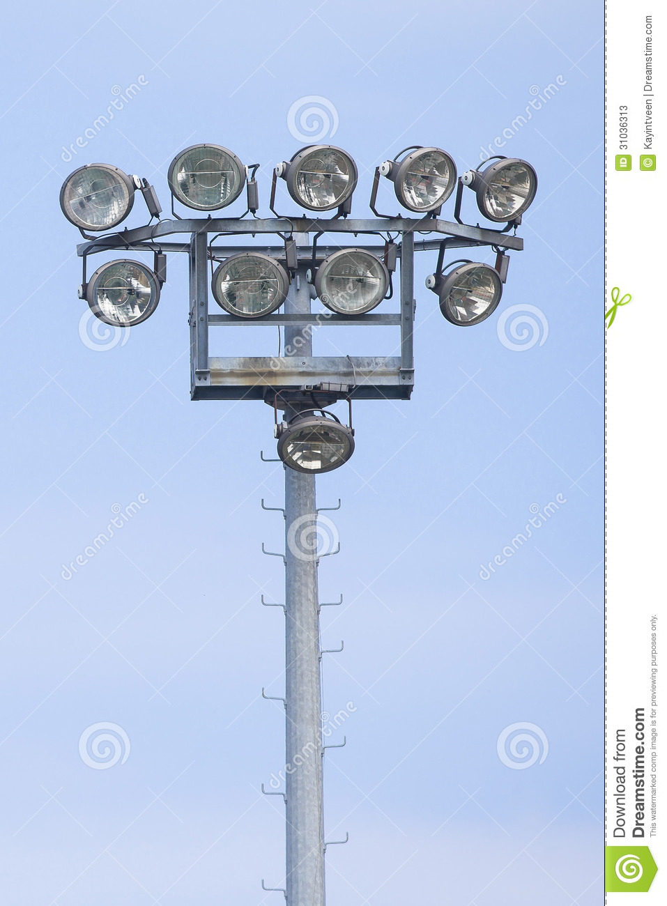 Outdoor stadium lights stock image image of electronics 31036313 outdoor stadium lights mozeypictures Image collections
