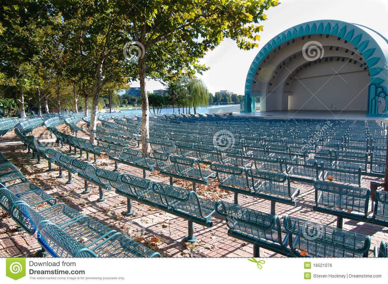 Empty outdoor concert stage - Concert Domed Rows Seating Stage