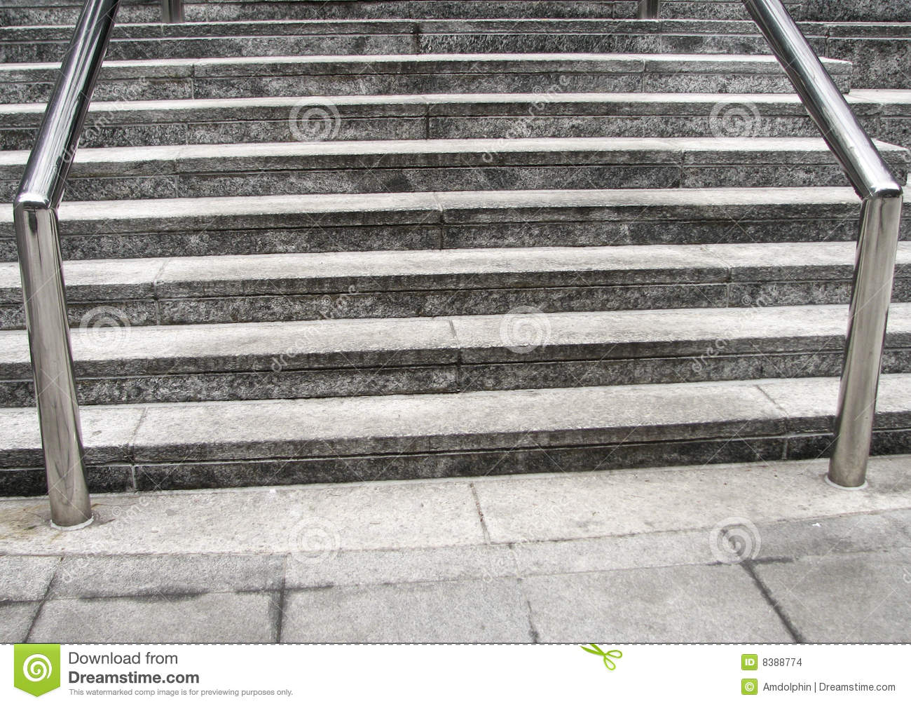 Outdoor Steps And Railing Stock Photo Image Of Edges 8388774