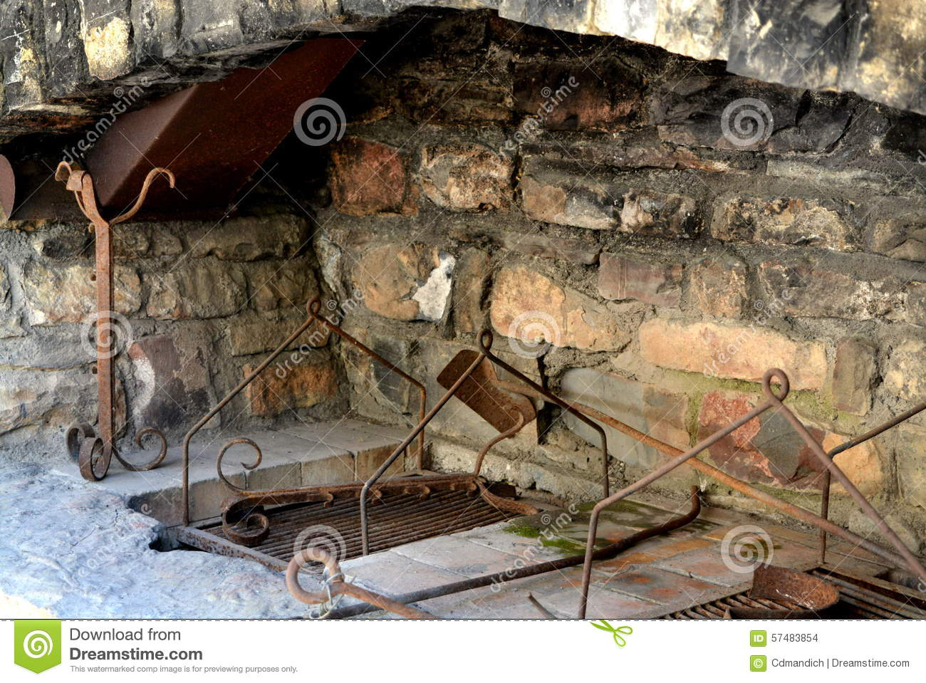 old stone fireplace. Royalty Free Stock Photo  Download Outdoor Stone Fireplace stock photo Image of terrace 57483854