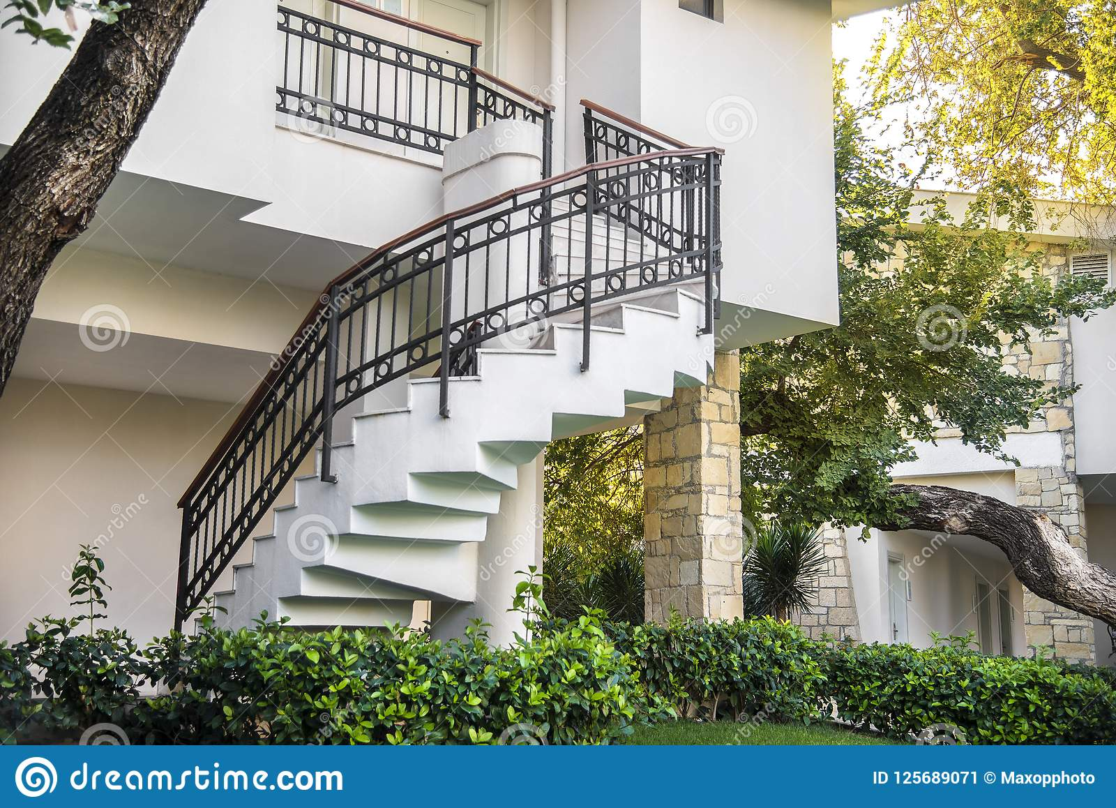 4 009 Outdoor Steel Staircase Photos Free Royalty Free Stock Photos From Dreamstime,Minimalist Korean Modern House Exterior Design