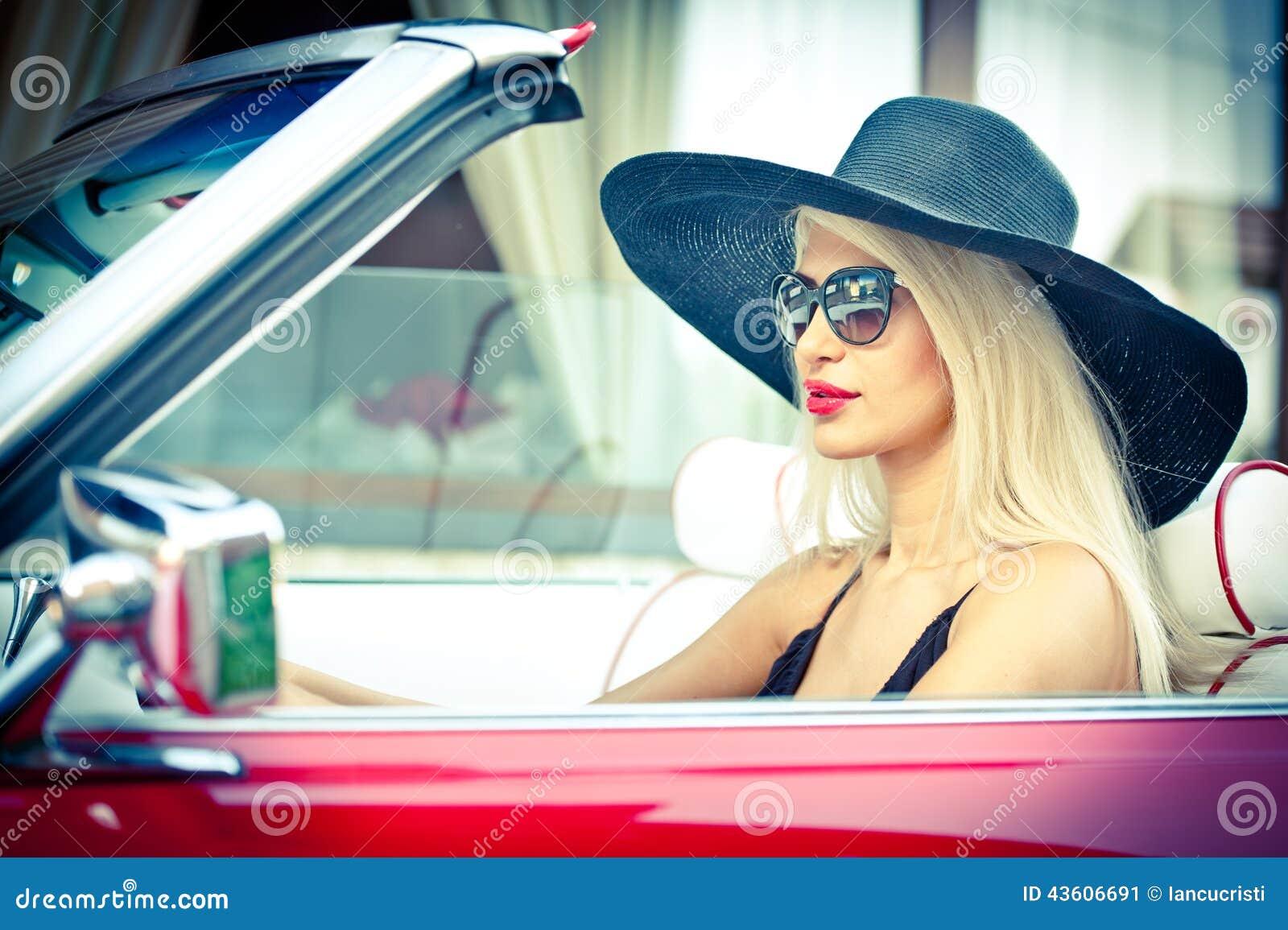 Video naked girl driving convertible cars