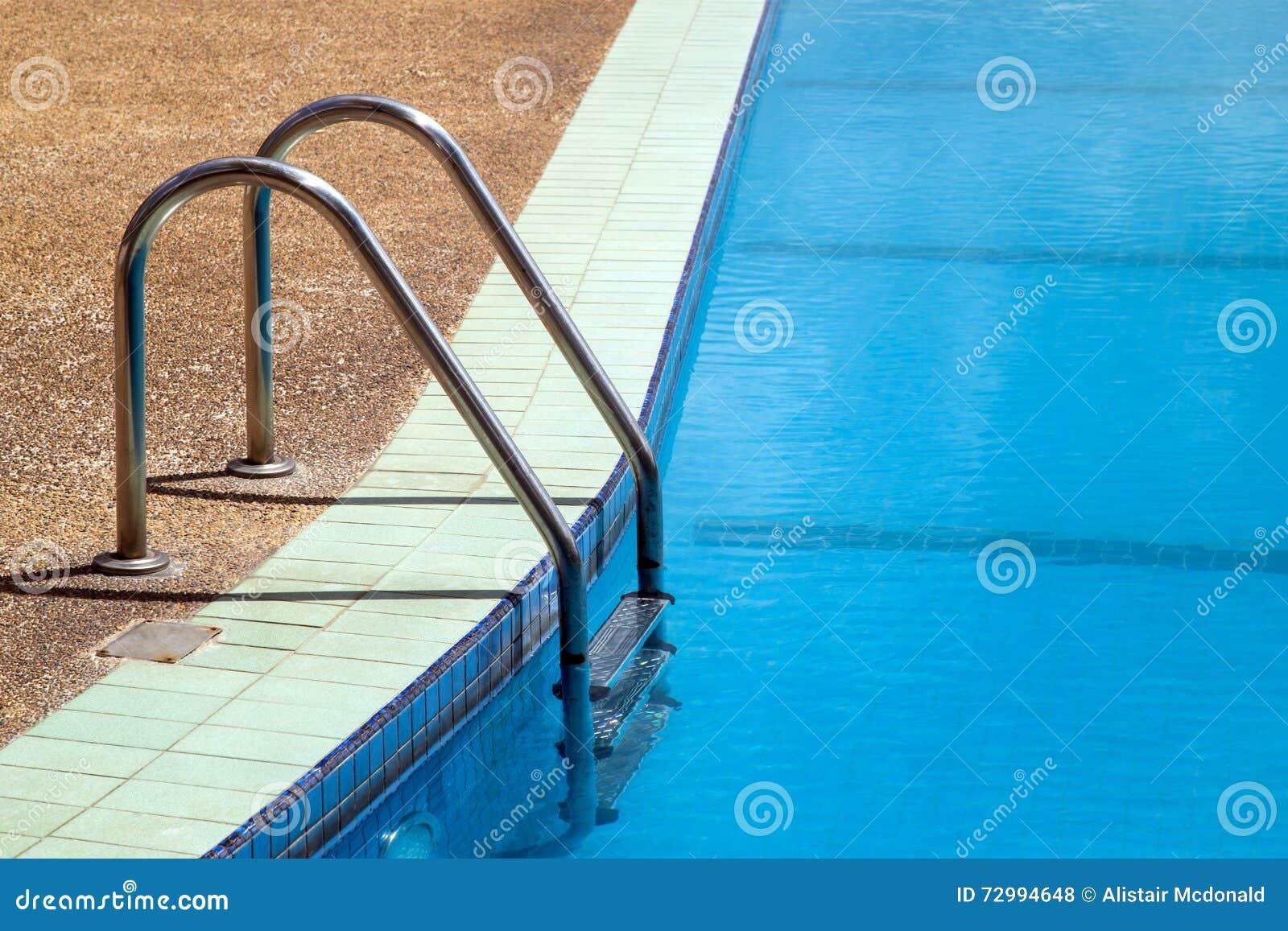 Swimming Pool Ladder Handrail Stock Photo 16294020