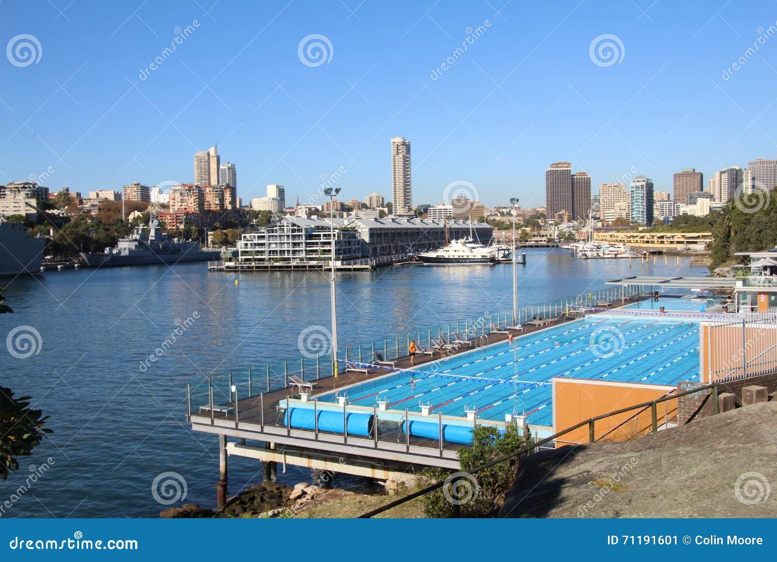 Outdoor Swimming Pool Stock Photo Image 71191601