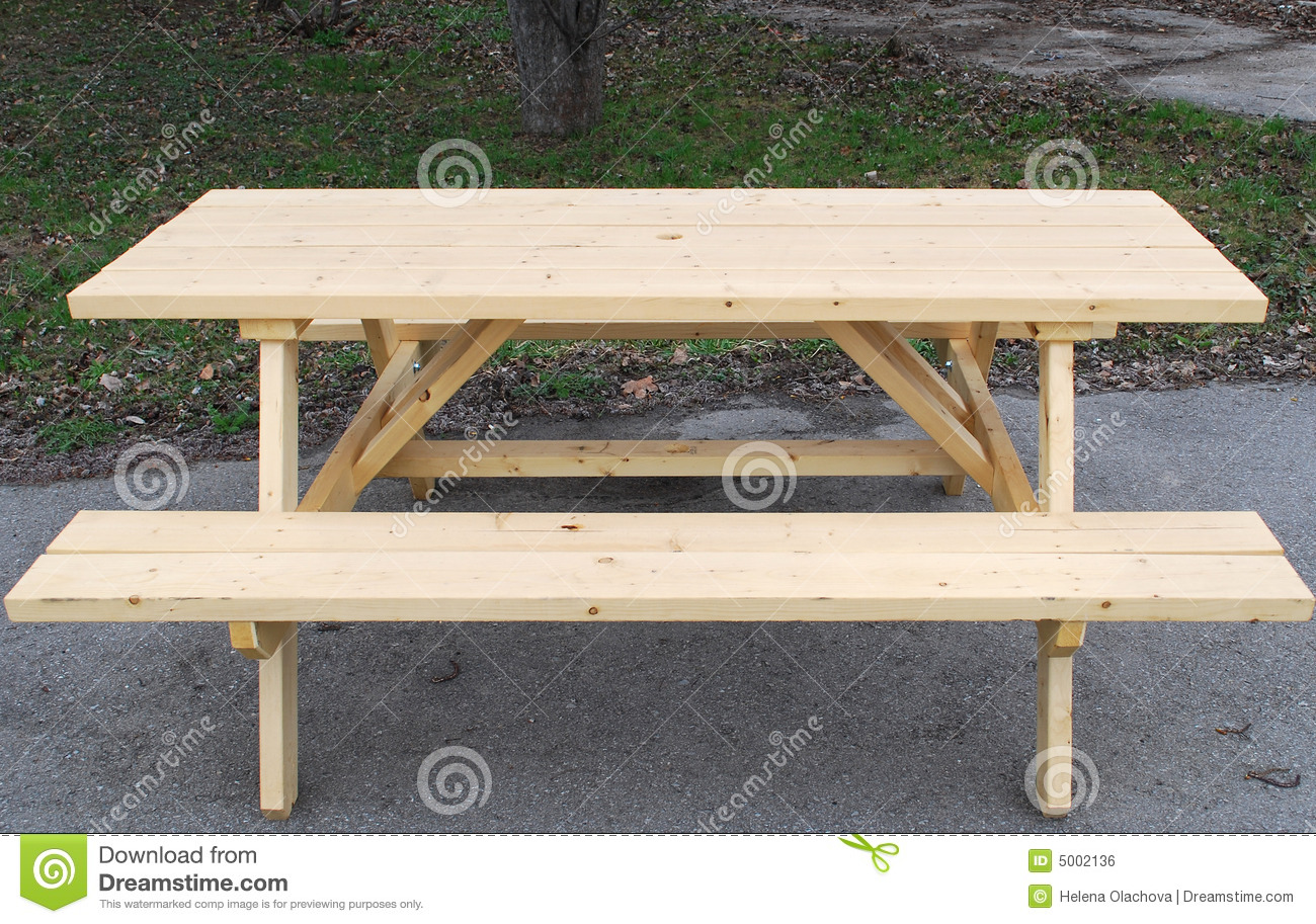 Outdoor Table With Bench Royalty Free Stock Image - Image ...