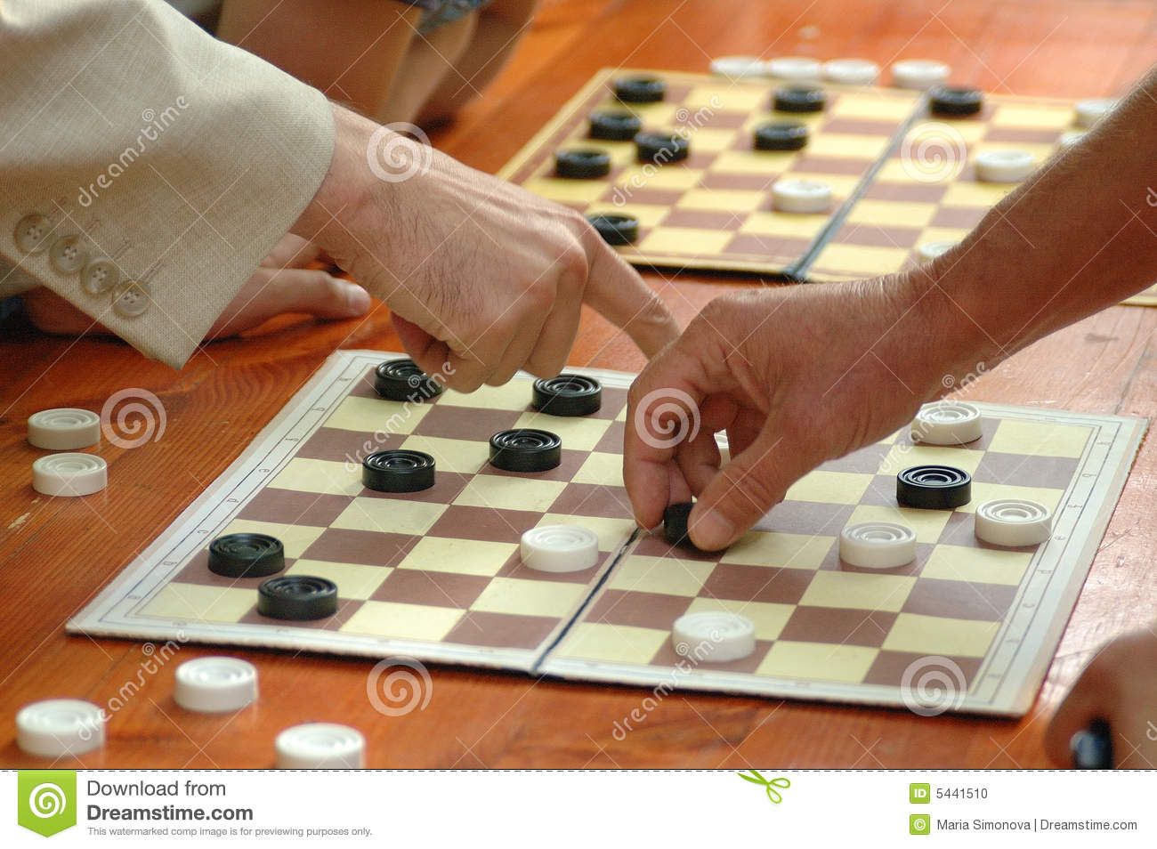 Outdoor Table For Checkers(draughts) Game Stock Photo ...