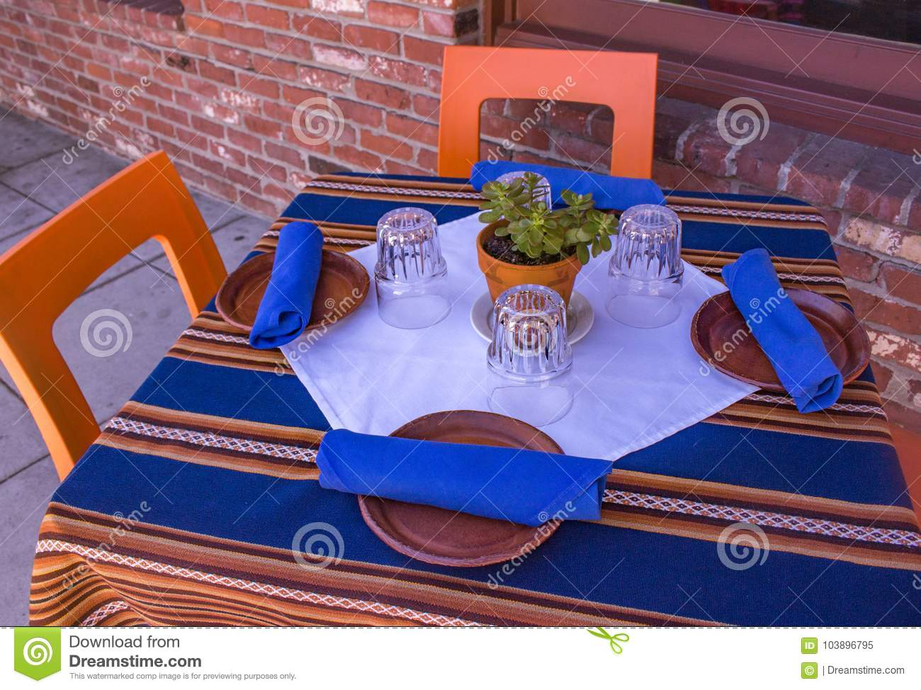 Fabulous Outdoor Table Setting For Four Stock Image Image Of Gmtry Best Dining Table And Chair Ideas Images Gmtryco